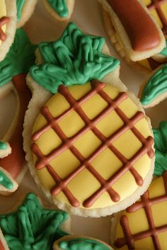 Pineapple close-up. by navygreen, via Flickr Pineapple Cookies, Cookie Recipes, Cookie Ideas, Cut Out Cookies, Luau, Some Fun, Bbq, Baking, Birthday Ideas