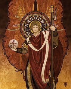 Saint Raphael, the Healer. One of the seven angels who stand and serve before the Glory of the Lord.""