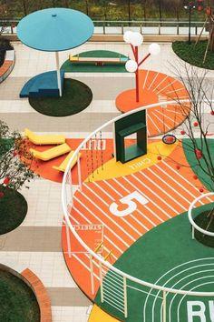 School Architecture, Landscape Architecture, Landscape Design, Urban Furniture, Street Furniture, Parque Linear, Playground Design, Parking Design, Environmental Design