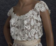 Irish Crochet Lace Wedding Dress Linen