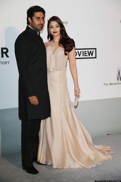 Aishwarya Rai and Abhishek Bachchan at Cannes