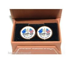 Pair of smart coloured enamelled cufflinks. Presented in a Ryder Cup Logo stamped gift box. A perfect gift for Golfers! www.hogiesonline.co.uk - RYDER CUP GOLF CELTIC MANOR 2010 - CUFFLINKS GIFT SET  , £7.99 (http://www.hogiesonline.co.uk/ryder-cup-golf-celtic-manor-2010-cufflinks-gift-set/)