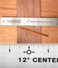 """12"""" STAINLESS STEEL CENTER FINDER RULER By Peachtree Woodworking - PW1365"""