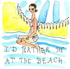 Lilly Pulitzer 5 x 5 I 'd rather be At the Beach!