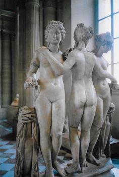 The Three Graces: Nymphs, Goddesses & Symbols of Feminine Beauty — The Anthrotorian Greek And Roman Mythology, Greek Gods, Goddess Symbols, Modern Portraits, Modern Paintings, India Art, Paris Art, Greek Art, Traditional Art