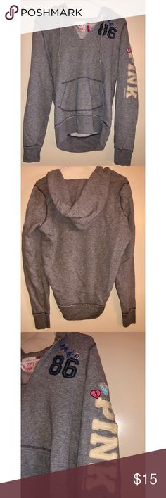 e9ccf29f5 Victoria s Secret PINK Hoodie Sweatshirt Gray Sz S You are purchasing a  pre-owned Victoria s