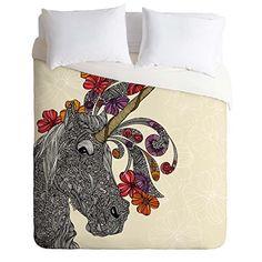 eacb1f71b DENY Designs Valentina Ramos Unicornucopia Duvet Cover, Queen Bungalow,  Duvet Cover Sizes, Duvet