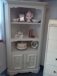 Your place to buy and sell all things handmade Corner Hutch, Corner Cabinets, Hand Painted Furniture, Vintage Shabby Chic, Or Antique, Room Ideas, Decor Ideas, Craft Ideas, Vintage Kitchen