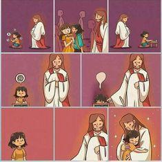 Christian Cartoons, Christian Memes, Christian Life, Image Jesus, Jesus Christ Images, Jesus Is Life, God Jesus, God Loves You, Jesus Loves
