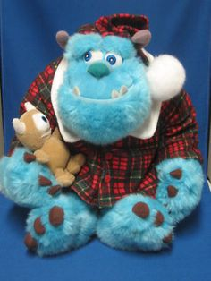 Disney Monster Inc Sulley Stuffed Snuggle Buddy!