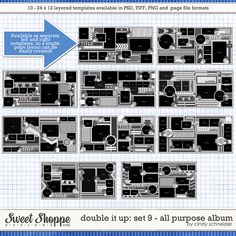 Cindy's Templates: Double It Up Set #9 All Purpose Album by Cindy Schneider