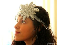 Silver Hollywood Star headband 1920s headband Gatsby headpiece, dance costume, flapper band, red carpet party, roaring 20s  flapper dress up