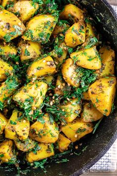 Middle Eastern Spicy Potato Salad Recipe The Mediterranean Dish. A light, mayonnaise-free potato salad. Loaded with flavor from garlic, spices like turmeric, fresh herbs and lime juice. Click the image to see the step-by-step on Indian Food Recipes, Vegetarian Recipes, Cooking Recipes, Healthy Recipes, Ethnic Recipes, Vegetarian Salad, Bariatric Recipes, Quinoa Salad, Beef Recipes