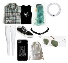 """""""a little color"""" by dyates-cierrah on Polyvore featuring Lokai, J.Crew, Vans, Casetify and WithChic"""