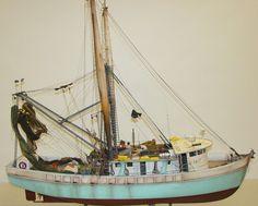 Authentic Shrimp Fishing Boat Model | Boat Models in 2019 | Boat, Shrimp boat, Model ships