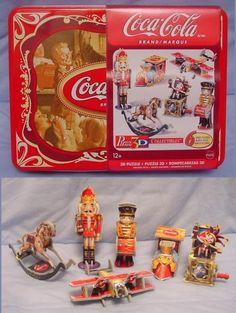 wrebbit 3d puzzles Coca Cola Vintage Toys w/ 137 pcs