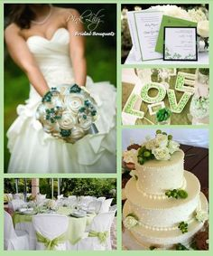 Ivory and Green #Wedding theme