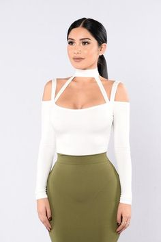 - Available in Black and Ivory - Halter - Spaghetti Straps - Off the Shoulder - Long Sleeve - Cheeky Bottom - All Bodysuits are FINAL SALE - 95% Rayon 5% Spandex