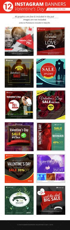 12 Instagram Banners Promo - Download Here : http://graphicriver.net/item/instagram-banners-promo/14813239?ref=yinkira