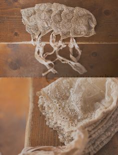 real one of kind vintage lace used on this unique bonnet for newborn girl