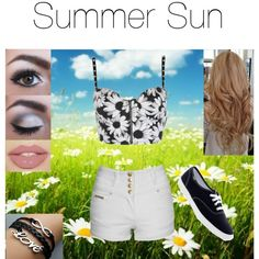 """""""Summer Sun"""" by meagaboo on Polyvore. Another one of my polyvore outfits that I think is really cute!"""