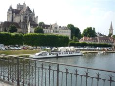 In France: The river Yonne runs through Auxerre, famous for the 12th century Cathedral and the 9th century Abbey St Germain crypt