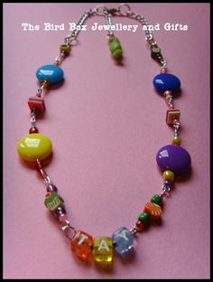Personalised sweetie necklace.  Part of the Hello Kitty jewellery box that was made for  special little girls birthday xx