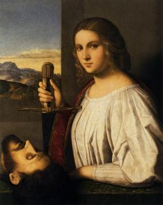 This is a portrait of a woman from the Italian Renaissance wearing only her camicia which is chemise in Italian. Mode Renaissance, Italian Renaissance Art, Renaissance Kunst, Renaissance Paintings, Renaissance Fashion, Book Of Judith, Judith And Holofernes, Italian Outfits, Italian Clothing