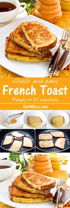 Toast Quick and easy French Toast for a delicious and satisfying breakfast. Ready in 10 minutes and perfect with a cuppa. Breakfast For Dinner, Best Breakfast, Breakfast Pancakes, Breakfast Healthy, Christmas Breakfast, Breakfast Casserole, Brunch Recipes, Breakfast Recipes, Breakfast Ideas