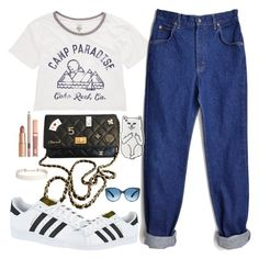 """""""Untitled #1742"""" by anarita11 ❤ liked on Polyvore featuring Billabong, Chanel, adidas, RIPNDIP, Dolce Vita and Humble Chic"""