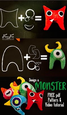 I love this free monster softie toy pattern! And there's a video tutorial with it. I think this would be a great handmade gift for a little man that I know. It looks easy to sew too. Love this!