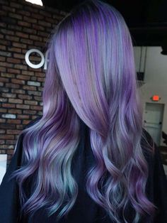 Versatile Idea of purple blue hair color in 2019 - All For Hair Color Balayage Bright Purple Hair, Purple Wig, Hair Color Purple, Teal Hair, Grey Hair, Cute Hair Colors, Cool Hair Color, Blake Lively, Blue Hair Balayage