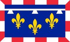Flag of Centre (France) - Regiones de Francia -