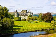 Scotland's Inverary Castle.   Total Romance! So ideal it's hard to believe it's real...