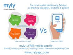 #myly #Edtech #Education  How an Educational Institute saved Rs. 1,25,000 per year in communication costs? Click here - http://bit.ly/1NdHNHE  The most trusted mobile app solution connecting #educators, #students, and #parents  myly is #FREE mobile #app for #School #College #University #CoachingCenter #TuitionCenter #HobbyClass  Register now www.mylyapp.com