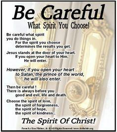 Be Careful What Spirit You Choose