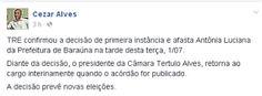 RN POLITICA EM DIA: DO FACEBOOK DE CÉZAR ALVES...