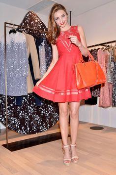 Miranda Kerr - petite robe rouge