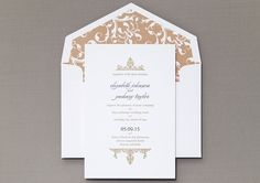 Alchemy Wedding Invitation by honey-paper.com #wedding #simplewedding #b.t.elements