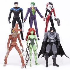 DC COMICS Batman Joker Harley Quinn Nightwing Poison Ivy Scarecrow PVC Action Figures Collectible Model Toys 6pcs/set //Price: $30.99 & Always FREE Shipping World Wide//     Stocking Stuffer They'll Never Forget     Commodity material:PVC  Size: Approx 16~18cm  Package:packed in bag      https://www.shopshopship.com/product/dc-comics-batman-joker-harley-quinn-nightwing-poison-ivy-scarecrow-pvc-action-figures-collectible-model-toys-6pcsset