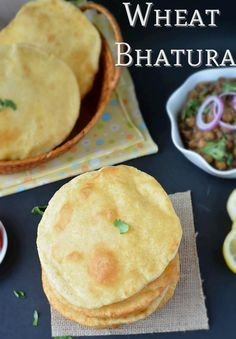 Step by step Wheat Bhatura Recipe. How to make wheat bhatura without yeast. Whole Wheat bhatura and maida bhatura recipe also included. Tea Time Snacks, Breakfast Snacks, Breakfast Recipes, Snack Recipes, Cooking Recipes, Salad Recipes, Dinner Recipes, Healthy Recipes, Paneer Dishes
