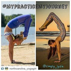 #Repost @northcarolina_yogagirl with @repostapp  I am so excited to announce this October challenge #MyPracticeMyJourney! @simply_lydie and I are celebrating our 2-year yogaversary together by hosting this challenge. Even though we started our journeys at the same time (October 2013) we are at different places in our practice. We partnered up for this challenge to show you that you are all exactly where you need to be. Stop comparing yourself to others and focus on you :)! We will be taking…