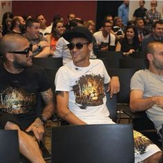 """Neymar & Barcelona's squad in Xavi's farewell event yesterday ♥♥"" Neymar Barcelona, Neymar Jr, Shakira, Messi, Squad, Idol, Hero, Instagram Posts, Mens Tops"