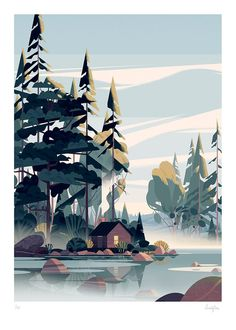 """Cruschiform - """"Building from simple modular forms, Cruschiform creates intricate and visually striking landscapes that demand a closer look."""" illustration Walden by Cruschiform Art And Illustration, Book Illustrations, Mountain Illustration, Building Illustration, Inspiration Art, Art Inspo, Art Environnemental, Wow Art, Environment Concept"""