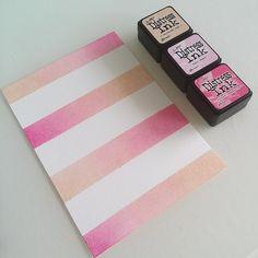 Pink and stripy! #distressinks #distressink #distress #ink #papercrafts…