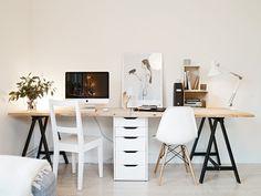 Two seat workspace - via Coco Lapine Design