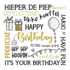 Leuke handlettering verjaardagskaart met een goudlook accent. Veel plezier met de leuke kaart. Happy Birthday Cards Handmade, Happy Birthday Man, It's Your Birthday, Handlettering Happy Birthday, Best Birthday Quotes, Doodle Lettering, Bday Cards, Happy B Day, Birthday Pictures