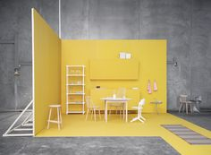 Could use warehouse space for party and colour code corners/areas for activities or food/drink themes