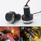 7/8'' Motorcycle Handle Grip Bar End LED Plug Turn Signal Light Amber Universal