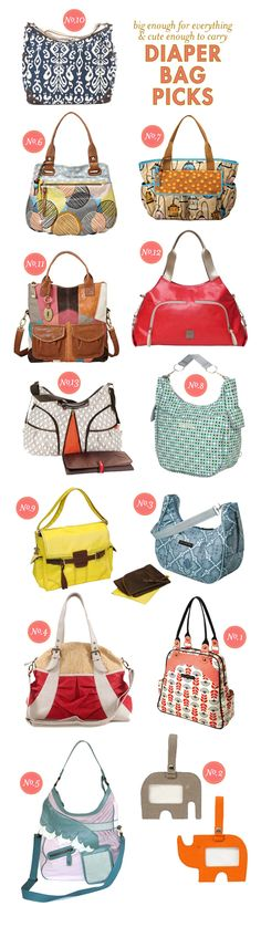 You've got all those diapers, now you need the perfect bag! Love these diaper bag styles. BabyBump - the app for pregnancy - babybumpapp.com